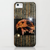 iPhone Cases featuring Steampunk,  with awesome eagle by nicky2342