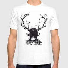 BOY FROM THE WOOD White SMALL Mens Fitted Tee