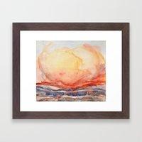 just glow Framed Art Print