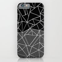 Ab Half and Half Black iPhone 6 Slim Case
