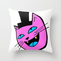 Herro Cat Throw Pillow