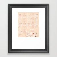 My Wild Night With Teddy… Framed Art Print