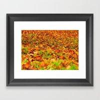 Autumn carpet Framed Art Print