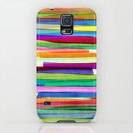 Colorful Stripes 1 Galaxy S5 Slim Case