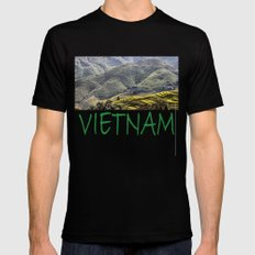 Teraces of Rice Mens Fitted Tee SMALL Black