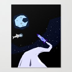 Off to space Canvas Print