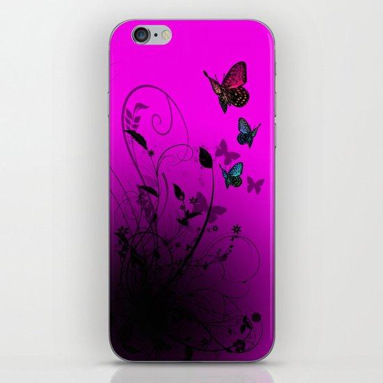 Summer Butterflies iPhone & iPod Skin