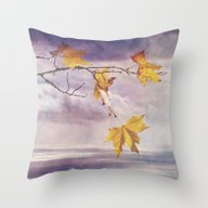 Faded Leaves - JUSTART �… Throw Pillow