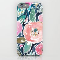 iPhone & iPod Case featuring Gardens of Capitola Watercolor Floral by Barbarian | Barbra Ignatiev