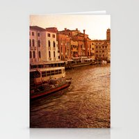 Grande Canal At Dusk Stationery Cards