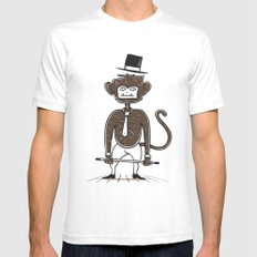 A fu*king tap dancing monkey Mens Fitted Tee White SMALL