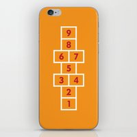 Hopscotch Orange iPhone & iPod Skin