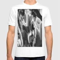 psychedelia in black & white Mens Fitted Tee White SMALL