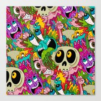 Puke Pattern Canvas Print