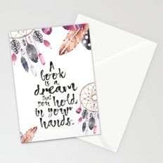 A Book is a Dream Stationery Cards
