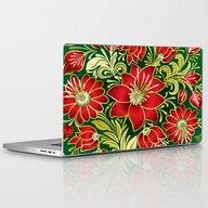 Shabby Flowers #4 Laptop & iPad Skin