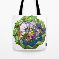 Crowd & Snake Tote Bag