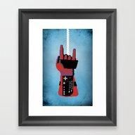 Framed Art Print featuring Power Glove Love: Spider… by Josh Ln