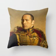 Throw Pillow featuring Dwayne (The Rock) Johnso… by Replaceface
