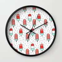 Cold Pops Wall Clock
