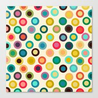 Ivory Pop Spot Canvas Print