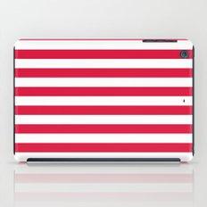Horizontal Stripes (Crimson/White) iPad Case