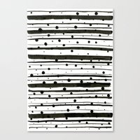 Dots And Lines Canvas Print