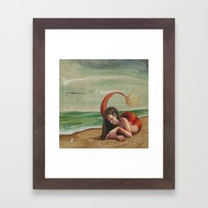 Drawing in the Sand Framed Art Print