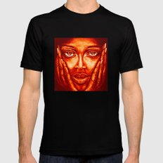 look at me /red/ SMALL Mens Fitted Tee Black