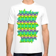 Diamonds SMALL Mens Fitted Tee White
