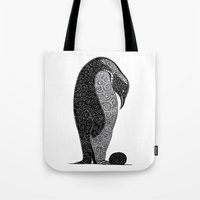 Penguin And Her Pretty Tote Bag