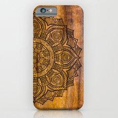 Mandala on wood iPhone 6 Slim Case