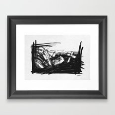 Past or Future? Framed Art Print