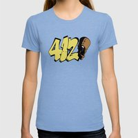 BLANKM GEAR - FOUR ONE D… Womens Fitted Tee Tri-Blue SMALL