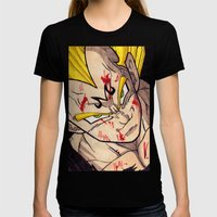 Vegeta Womens Fitted Tee Black SMALL