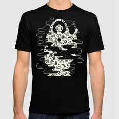 The Magician: Black Magic Mens Fitted Tee Black SMALL