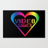 Love Video Games Canvas Print