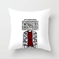 Radio Daze Throw Pillow