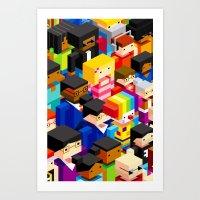 Pattern People Art Print
