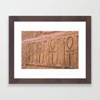 Karnak Temple Ankh Carvi… Framed Art Print