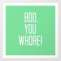 Mean Girls #4 – Boo Art Print