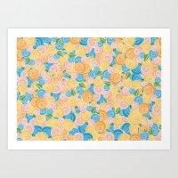 Pastel Floral Art Print