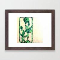 floral green Framed Art Print