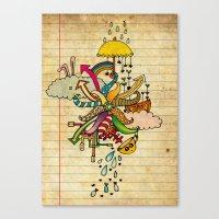 Notebook World Canvas Print
