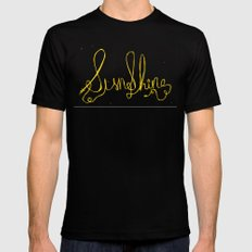 sunshine SMALL Black Mens Fitted Tee