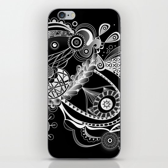 Spring tangle, black iPhone & iPod Skin