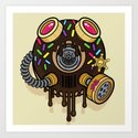 Donut Gas Mask Art Print