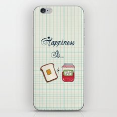 Happiness Is Toast & Jam iPhone & iPod Skin