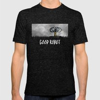 Good Robot Mens Fitted Tee Tri-Black SMALL