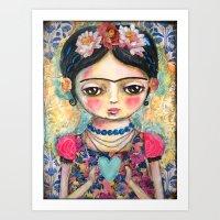 The Heart Of Frida Kahlo… Art Print